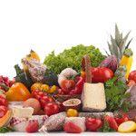 Przykład diety dla cukrzycka z dużą ilością warzyw, chudych mięs i pełnego nabiału