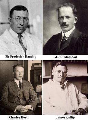 Zespół który pracował nad okryciem insuliny