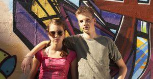 Dwoje nastolatkow z cukrzyca