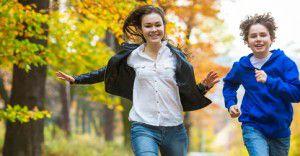 Dzieci i mlodziez cukrzyca bieg po parku