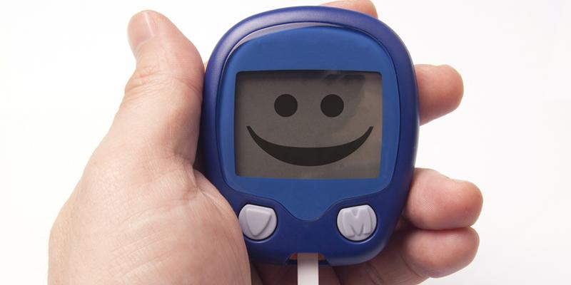 Glukometr z dobrym wynikiem poziomu cukru we krwi
