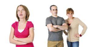 Nastolatek z cukrzyca typu 1 i rodzice