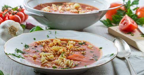 Dieta w cukrzycy typu 1 - zupa pomidorowa