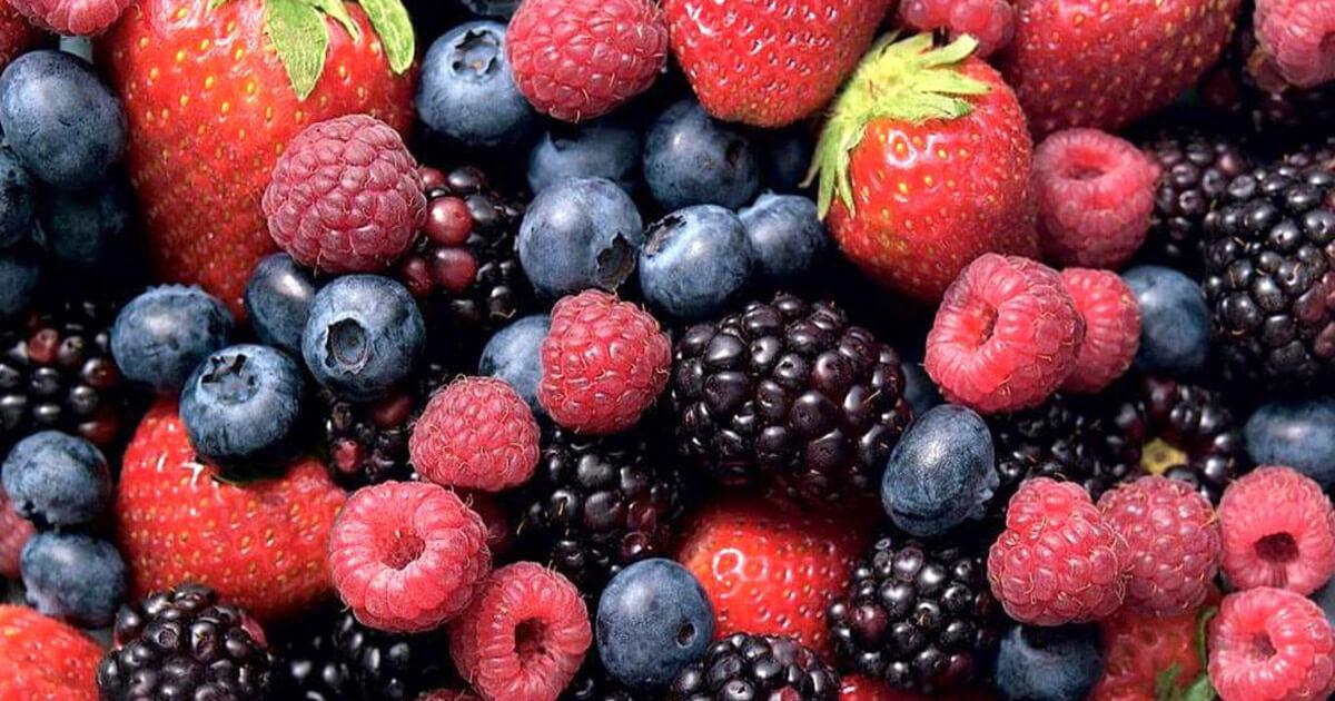 Truskawki, jagody, maliny